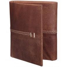 Deals, Discounts & Offers on Men - Teakwood Brown Leather Formal Wallet