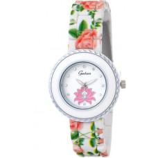 Deals, Discounts & Offers on Women - Gesture Stylish Flower Dial modest Analog Watch