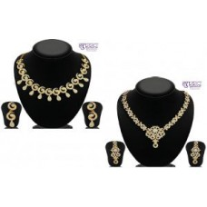 Deals, Discounts & Offers on Women - Buy 1 Get 1 Free Sukkhi Glimmery Ad Gold Plated Necklace Set