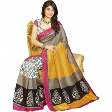 Deals, Discounts & Offers on Women Clothing - Upto 80% off on Patij Fashion Bhagalpuri Silk Saree With Cotton and Silk Blouse