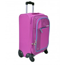Deals, Discounts & Offers on Travel - American Tourister Medium  4 Wheel Soft Magenta Hugo Luggage Trolley