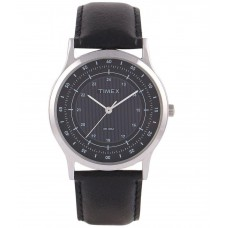 Deals, Discounts & Offers on Men - Flat 72% off on Timex Black Leather Analog Watch