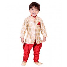 Deals, Discounts & Offers on Kid's Clothing - Tiny Toon Red Kurta Pajamas For Boys