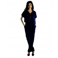 Deals, Discounts & Offers on Women Clothing - Upto 56% off on Vea Kupia Blue Poly Crepe Jumpsuits