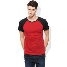 Deals, Discounts & Offers on Men Clothing - Upto 57% off on Rigo Red & Black Plain Men T Shirt