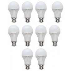 Deals, Discounts & Offers on Home Appliances - Combo Of 10 White Plastic LED Bulbs - 5 W @ Rs 499