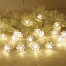 Deals, Discounts & Offers on Home Appliances - Flower Shape Warm white -LED String Lamp Lights Xmas Wedding Decor
