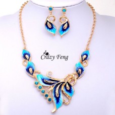 Deals, Discounts & Offers on Women - New Fashion Austrian Crystal Hot Summer Necklace Set and Earrings