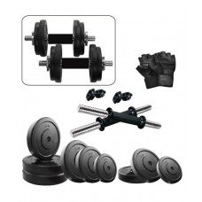 Deals, Discounts & Offers on Sports - Fitzon Dumbbell Set  with Gloves and Dumbbell Rods