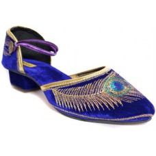 Deals, Discounts & Offers on Foot Wear - Flat 55% off on Indirang  Blue Heels