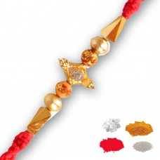 Deals, Discounts & Offers on Home Decor & Festive Needs - Maalpani Fancy Golden Thread Rakhi To India