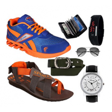 Indiatimes Shopping Offers and Deals Online - Fido Combo Of Sports Shoes, Sandals & Accessories @ Rs.925/-