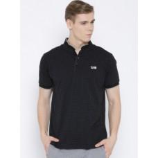 Deals, Discounts & Offers on Men Clothing - Upto 40% off on FILA Black Bayside Dot Print T-shirt
