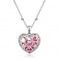 Deals, Discounts & Offers on Women - NEVI Swarovski Red Heart Crystal Charm Pendant Fashion Jewellery