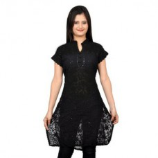 Deals, Discounts & Offers on Women Clothing - Upto 73% off on Saadgi Lucknowi Georgette  Chikankari Kurti
