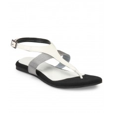 Deals, Discounts & Offers on Foot Wear - Flat 67% off on Lavie White Flat Sandal