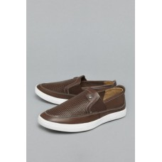 Deals, Discounts & Offers on Foot Wear - Azzurro Brown Slip-Ons Shoes