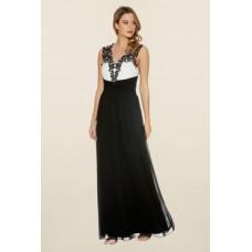 Deals, Discounts & Offers on Women Clothing - Quiz Black & White Chiffon Diamante Maxi Dress