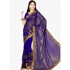 Deals, Discounts & Offers on Women Clothing - Upto 57% off on Blue Embellished Saree