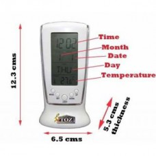 Deals, Discounts & Offers on Home Appliances - Square LCD Multifunctional Digital Clock Calendar Alarm