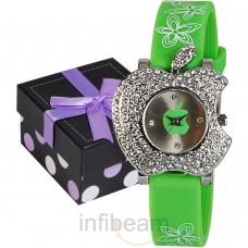 Deals, Discounts & Offers on Women - Geneva Kids Green Dial Watch