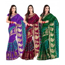 Deals, Discounts & Offers on Women Clothing - Upto 50% off on Ganga Shree  Banarasi Silk Saree Combos