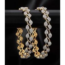Deals, Discounts & Offers on Women - Padmawati Fashion House Gold Plated American Diamond Beatuiful Bangles