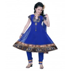 Deals, Discounts & Offers on Kid's Clothing - Upto 58% off on Saarah Blue Salwar Suit
