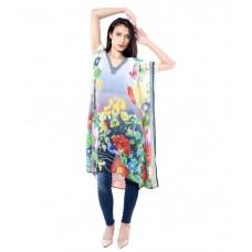 Deals, Discounts & Offers on Women Clothing - Upto 55% off on Sattyaa  Georgette Kaftan