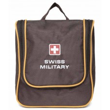Deals, Discounts & Offers on Stationery - Swiss Military Brown Polyester Toilet Bag