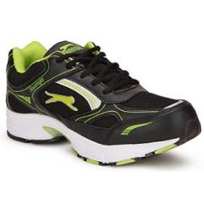 Deals, Discounts & Offers on Foot Wear - Slazenger Black & Green Men Sports Shoes @ Rs.999/-