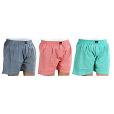 Deals, Discounts & Offers on Men Clothing -  Flat 60% Off  Combo of 3 Checkered Men Boxers@ 399