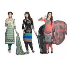 Deals, Discounts & Offers on Women Clothing -  Upto 70% off on Dress Material