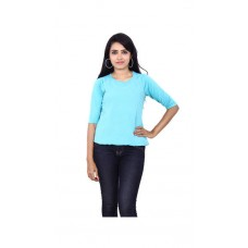 Deals, Discounts & Offers on Women Clothing - Wrangler Green Viscose;Georgette T- Shirt