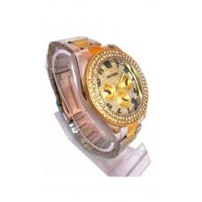 Deals, Discounts & Offers on Men - Paidu Brand Wrist Watch Stailess Steel Diamond Silver Golden Wrist Watch