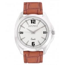 Deals, Discounts & Offers on Men - Laurels Original  Brown Leather Analog Watch