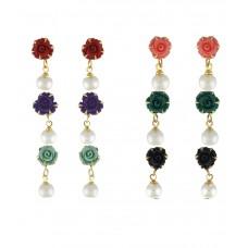 Deals, Discounts & Offers on Women - Classique Designer Jewellery  Alloy Drop Earrings Pack