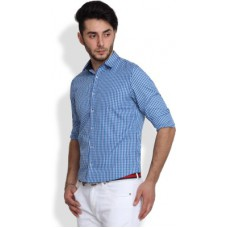 Deals, Discounts & Offers on Men Clothing - Brooklyn Blues  Checkered Casual  Shirt