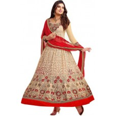 Deals, Discounts & Offers on Women Clothing - Giftsnfriends Georgette Embroidered Salwar Suit Dupatta Material