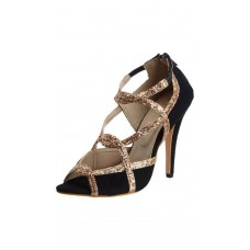Deals, Discounts & Offers on Foot Wear - Catwalk Gold And Black Heels