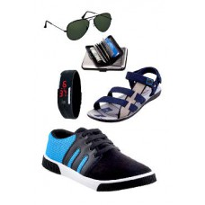 Deals, Discounts & Offers on Men - Delux 5 In 1 Combo Of Shoes And Accessories