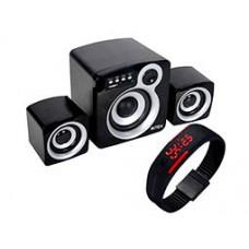 Deals, Discounts & Offers on Electronics - Intex 850 U Multimedia Speaker With Digital Watch