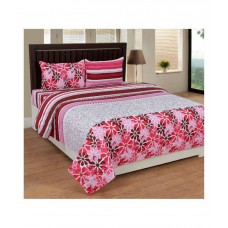 Deals, Discounts & Offers on Furniture - Home Elite Double Cotton Floral Bed Sheet