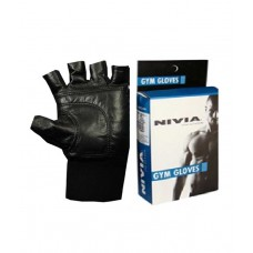 Deals, Discounts & Offers on Sports - Nivia Leather Gym Fitness Gloves With Wrist Wrap