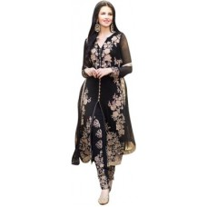 Deals, Discounts & Offers on Women Clothing - Divi Georgette Embroidered Salwar Suit Dupatta Material