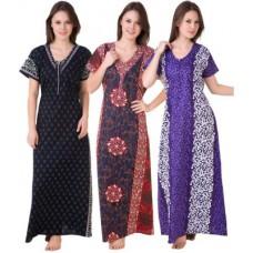 Deals, Discounts & Offers on Women Clothing - Flat 54% off on Masha Women's Night Dress