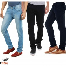 Deals, Discounts & Offers on Men Clothing - Stylox Branded Denim Pack of 3, 36