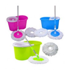 Deals, Discounts & Offers on Home Improvement - GTC Floor Cleaning PVC Mop With Two Microfibre