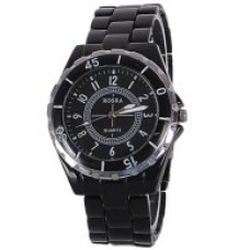 Deals, Discounts & Offers on Men - Rosra Black Steel Analog Watch