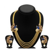 Deals, Discounts & Offers on Earings and Necklace - Sukkhi Alloy Gold Plated Kundan Necklace Set